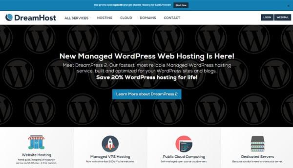 Best WordPress Hosting For Bloggers Dreamhost