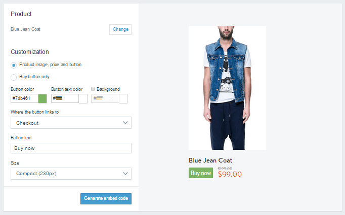 Shopify buy button 3