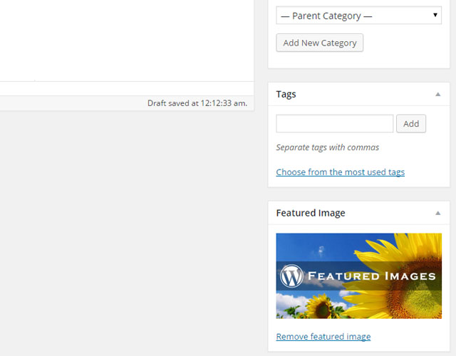 How to Add Featured Images in WordPress 01
